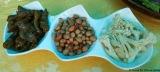 Chilis, peanuts, cauliflower