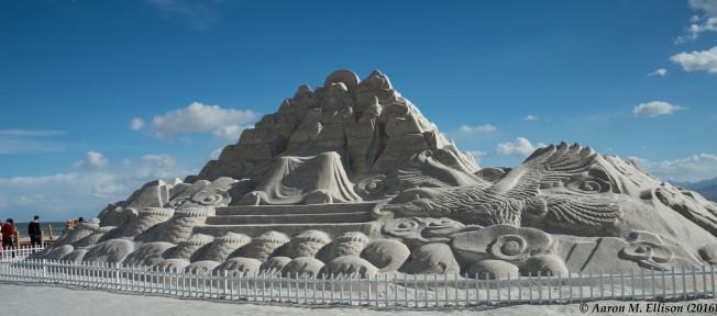 The newest salt sculpture