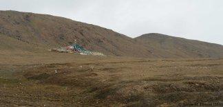 Tibetan prayer flags at the pass