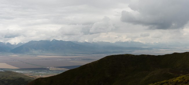 Qilian Mountains from a pass at 3700 m asl