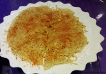 Riced potato pancake