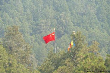 The flag flies over Badachu