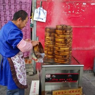 Making Baozi in Dulan
