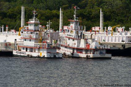 Tug boats in Manaus harbor