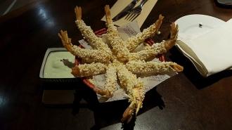 Shrimp with tapioca