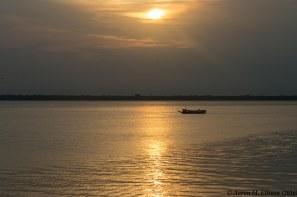 Sunset leaving Belem