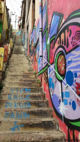 Stairs up a cerro