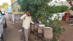 Haroun at a water stop