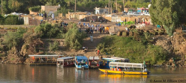 Boats on the Blue Nile