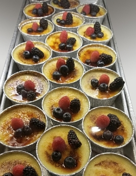Creme Brulees at Isgro Pastries